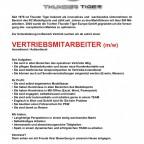 Thunder Tiger - Stellenangebot