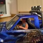 Airbrush Nikko Thor mit Fahrer Figur