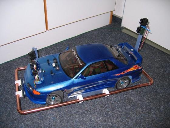 Tamiya TT-01 R Type E mit Nissan Skyline Karo